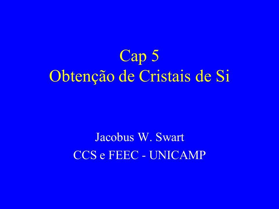 Cap 5 Obtenção de Cristais de Si