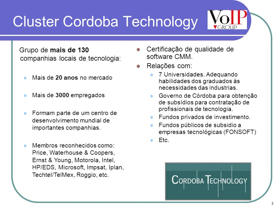 Cluster Cordoba Technology