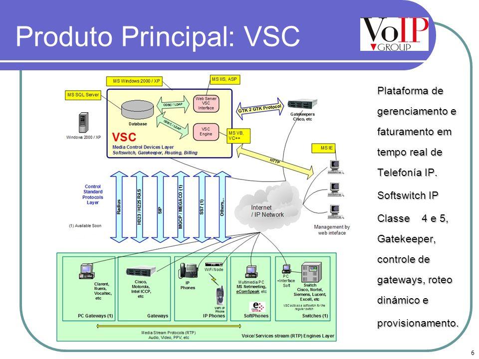 Produto Principal: VSC