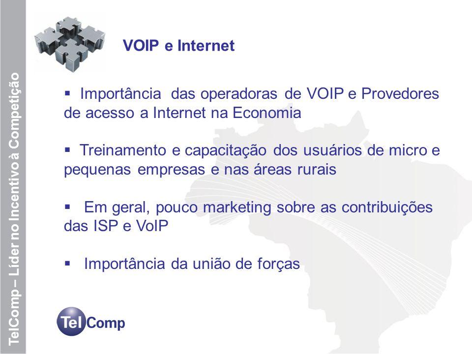 Em geral, pouco marketing sobre as contribuições das ISP e VoIP