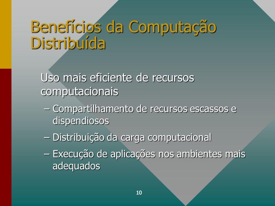Benefícios da Computação Distribuída