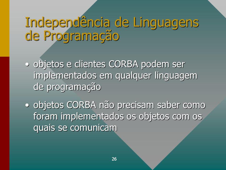 Independência de Linguagens de Programação