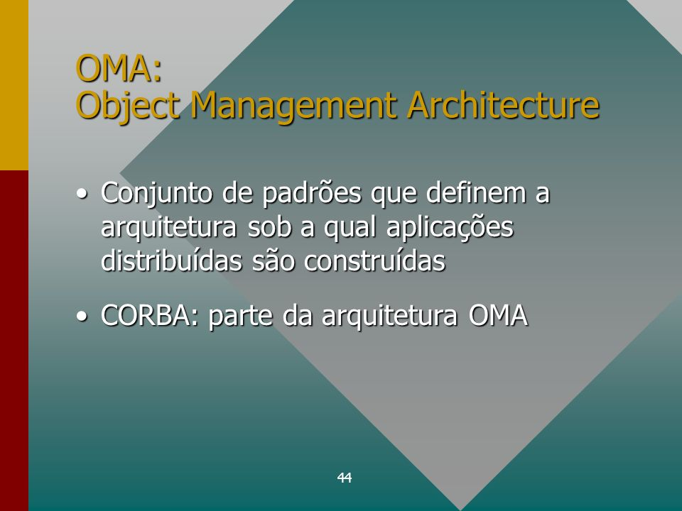 OMA: Object Management Architecture