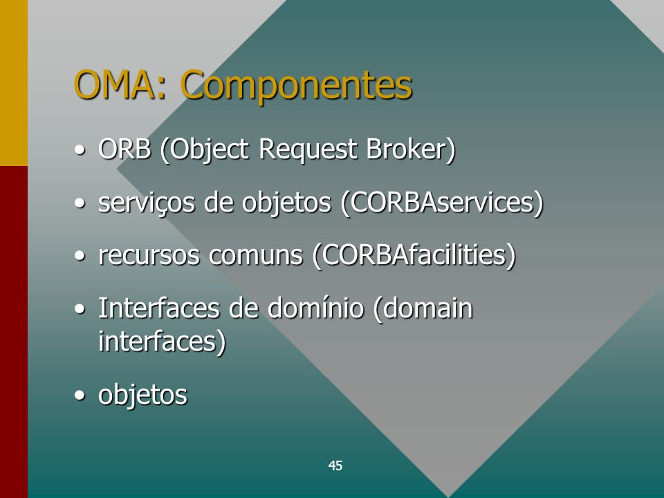 OMA: Componentes ORB (Object Request Broker)