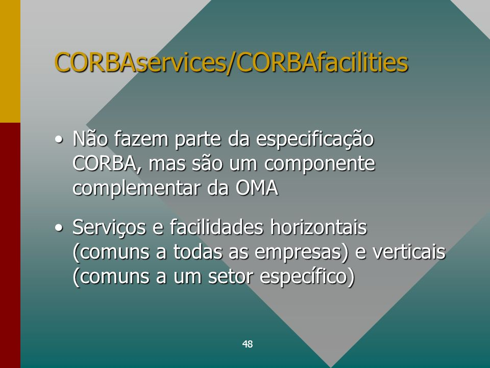 CORBAservices/CORBAfacilities
