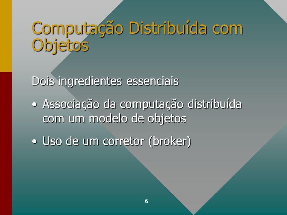 Computação Distribuída com Objetos