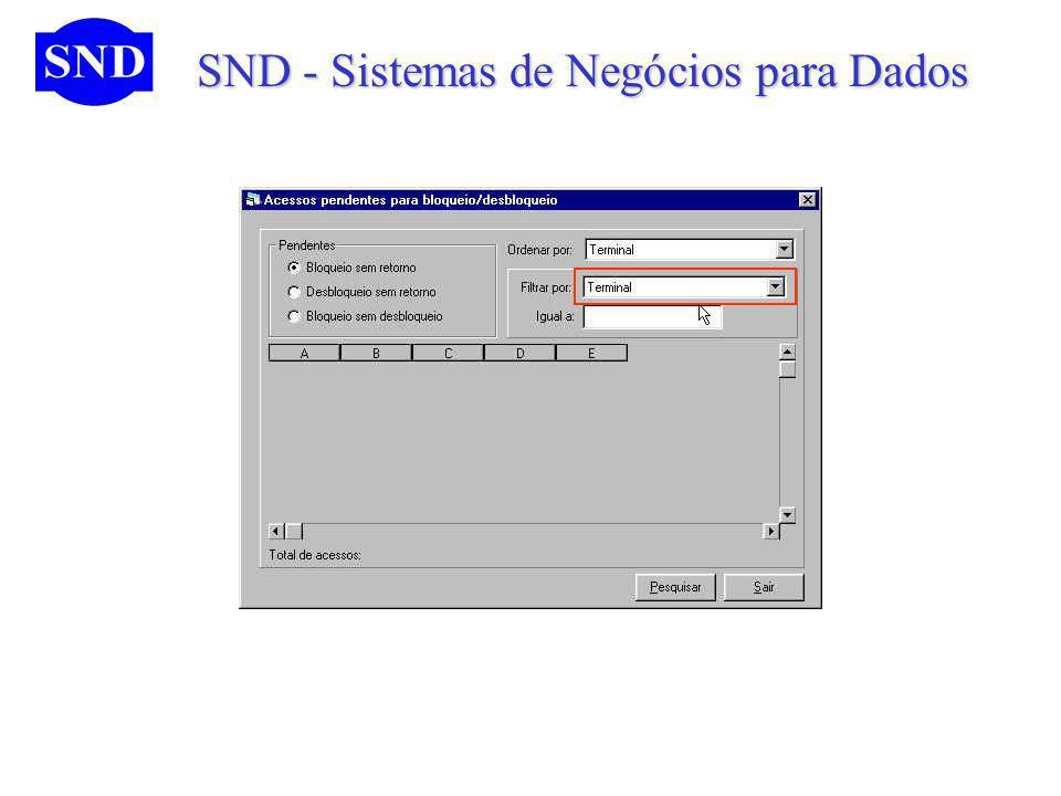 SND - Sistemas de Negócios para Dados