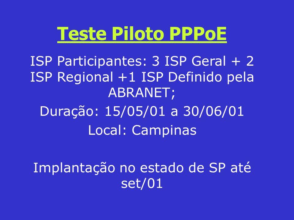 Implantação no estado de SP até set/01