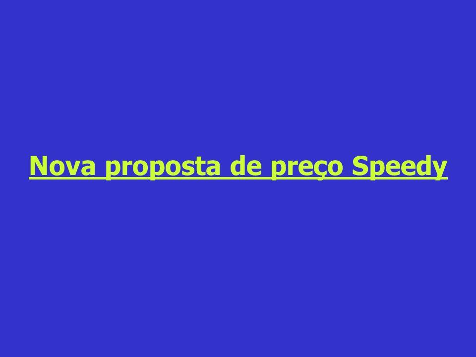 Nova proposta de preço Speedy