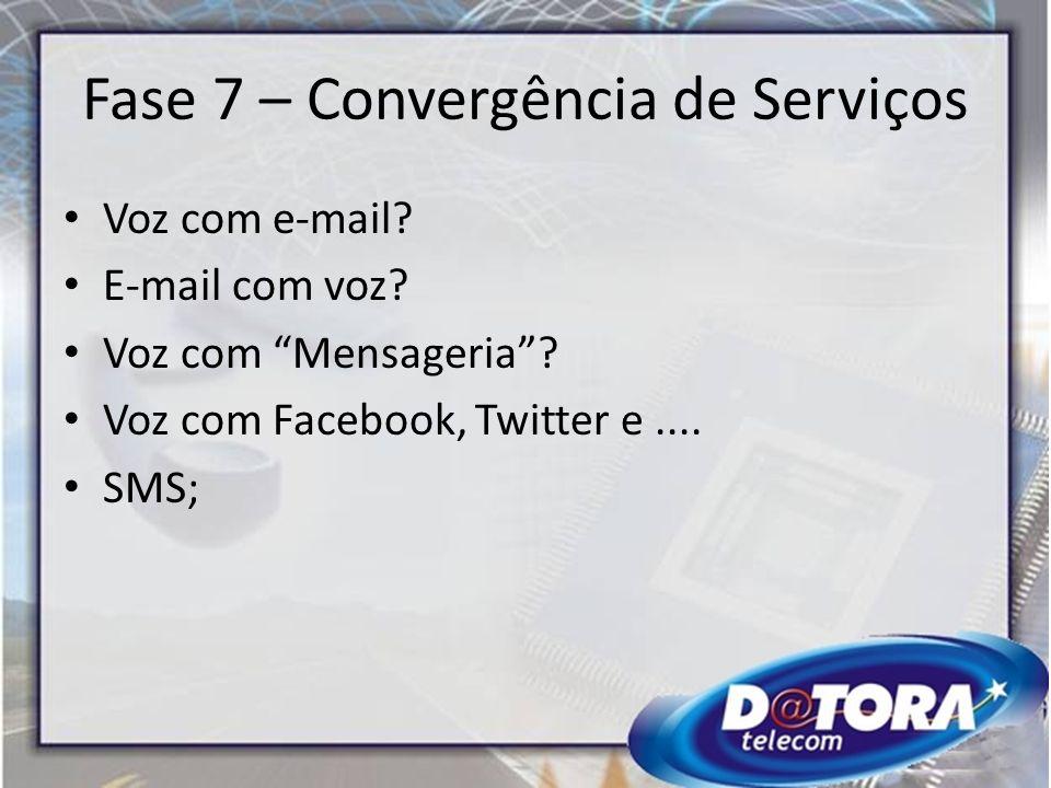 Fase 7 – Convergência de Serviços