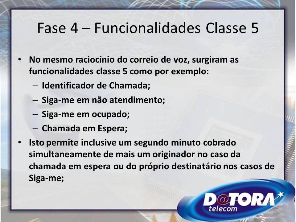 Fase 4 – Funcionalidades Classe 5