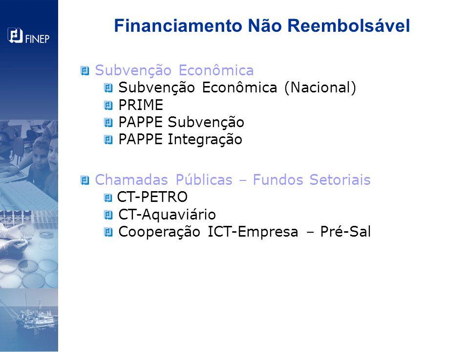 Financiamento Não Reembolsável
