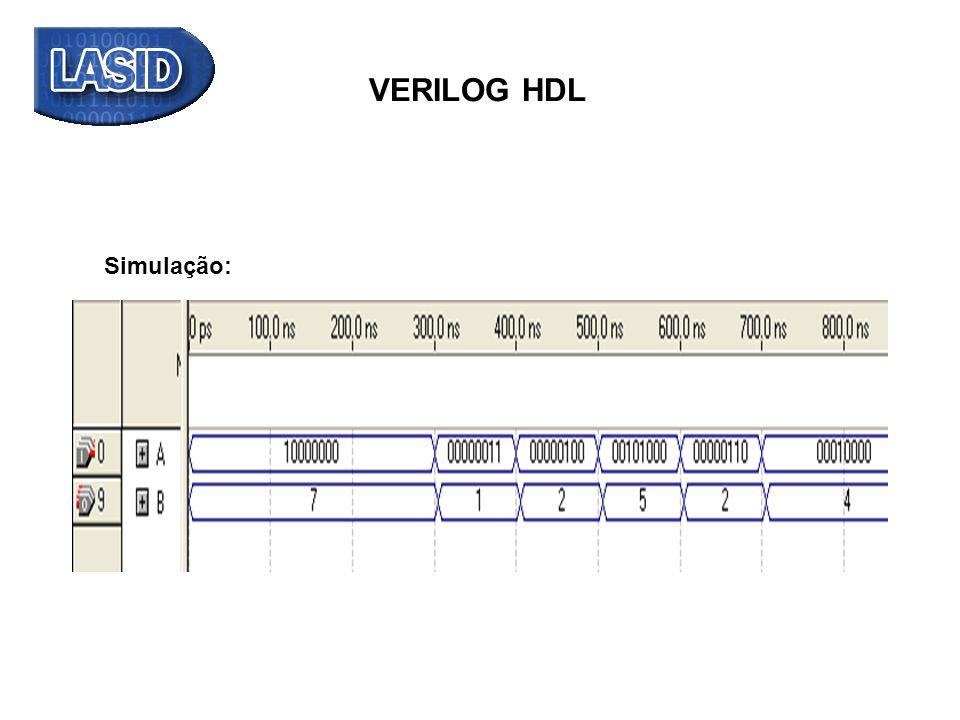 VERILOG HDL Simulação: