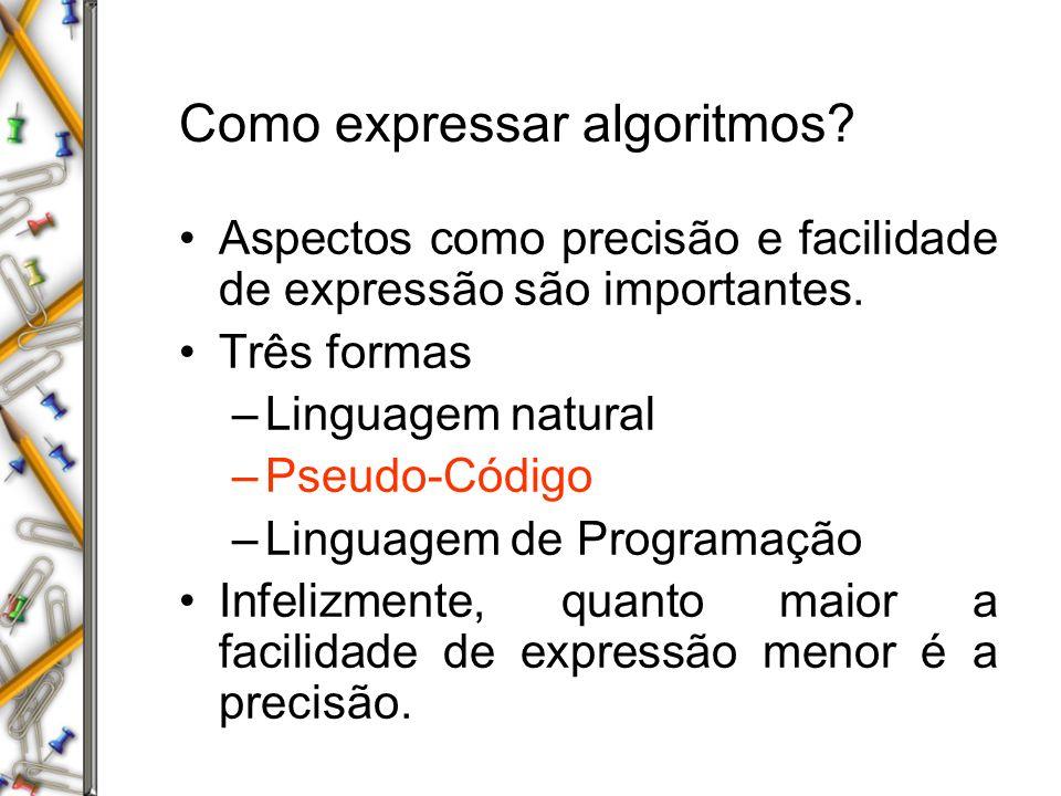 Como expressar algoritmos