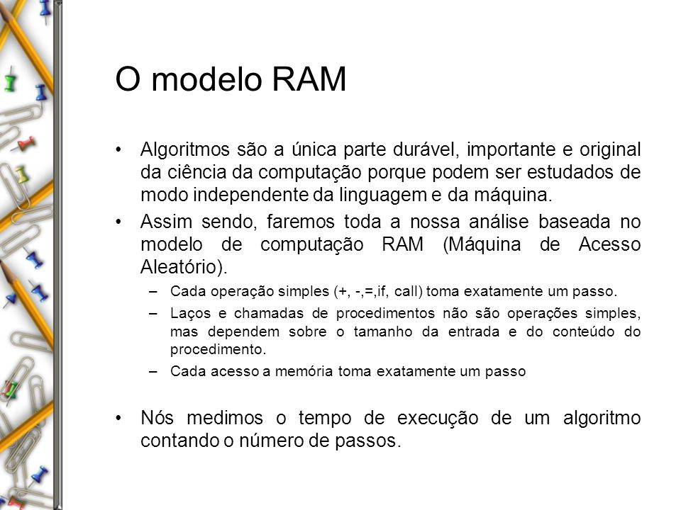 O modelo RAM