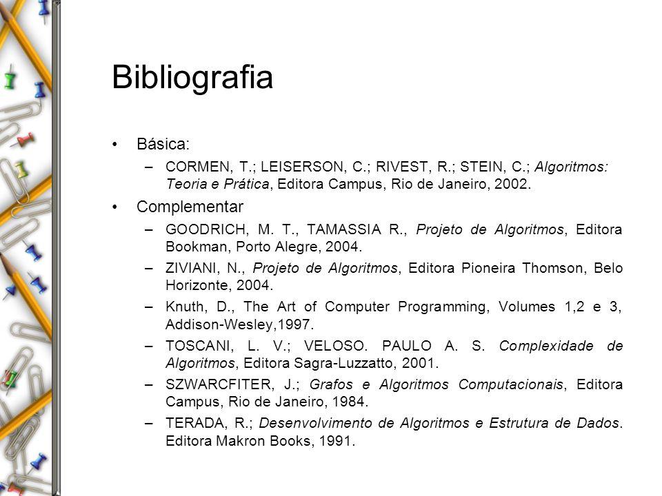 Bibliografia Básica: Complementar