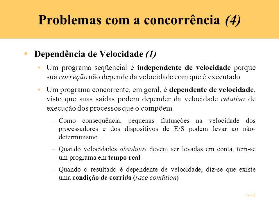 Problemas com a concorrência (4)