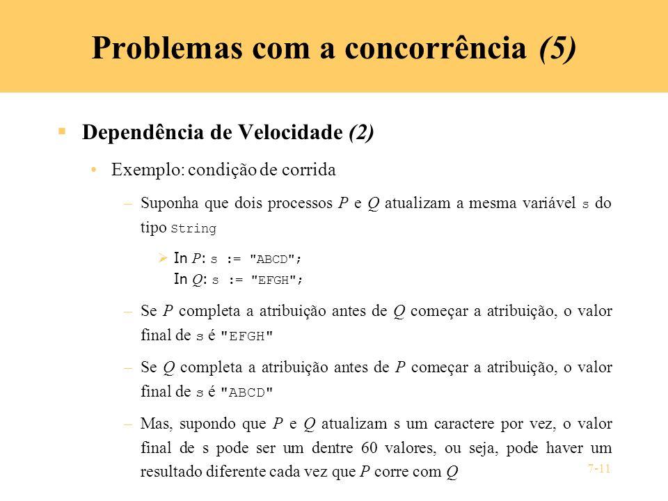 Problemas com a concorrência (5)