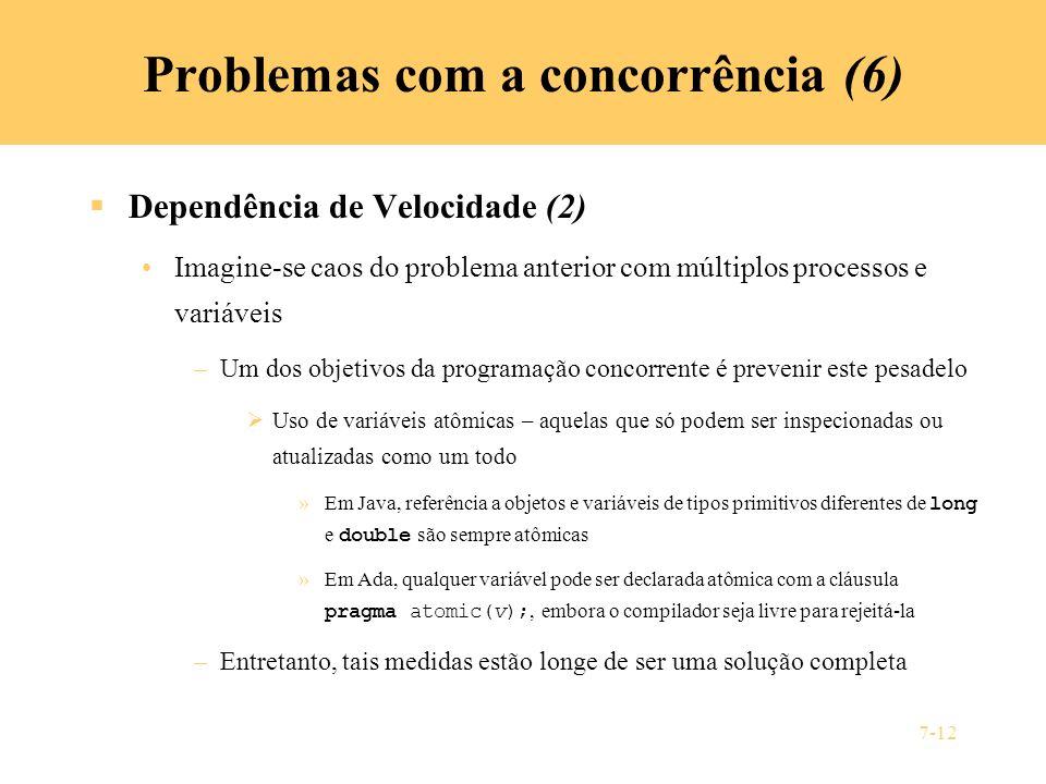 Problemas com a concorrência (6)