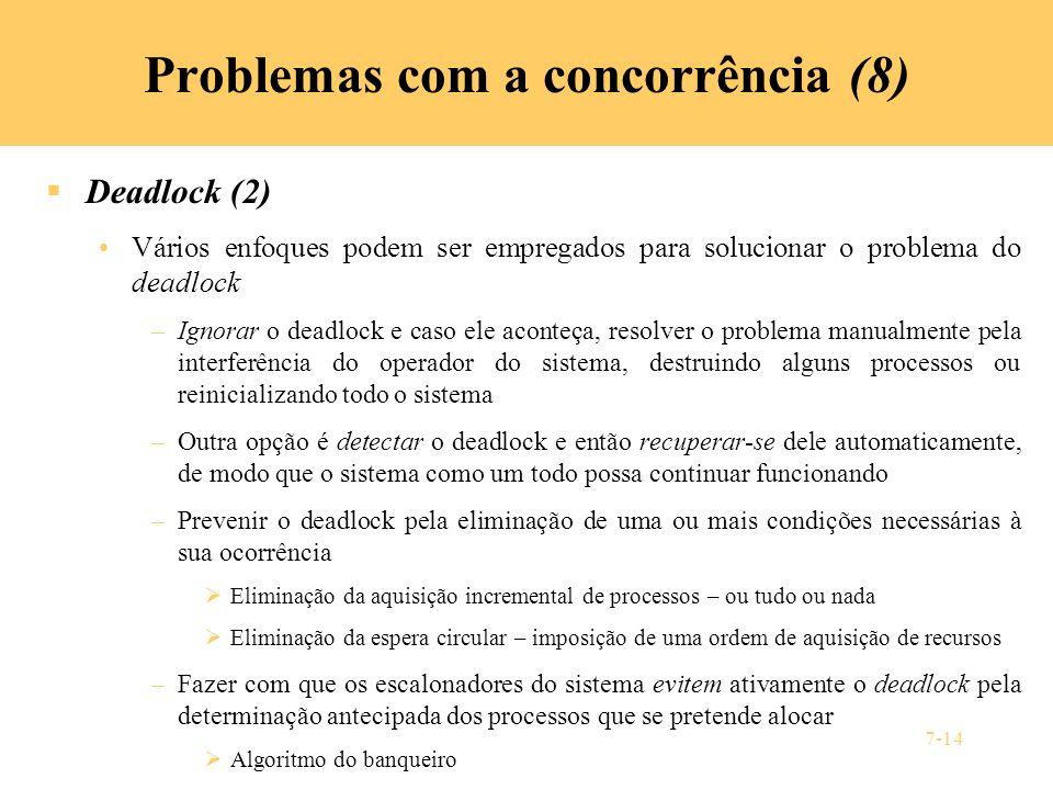 Problemas com a concorrência (8)