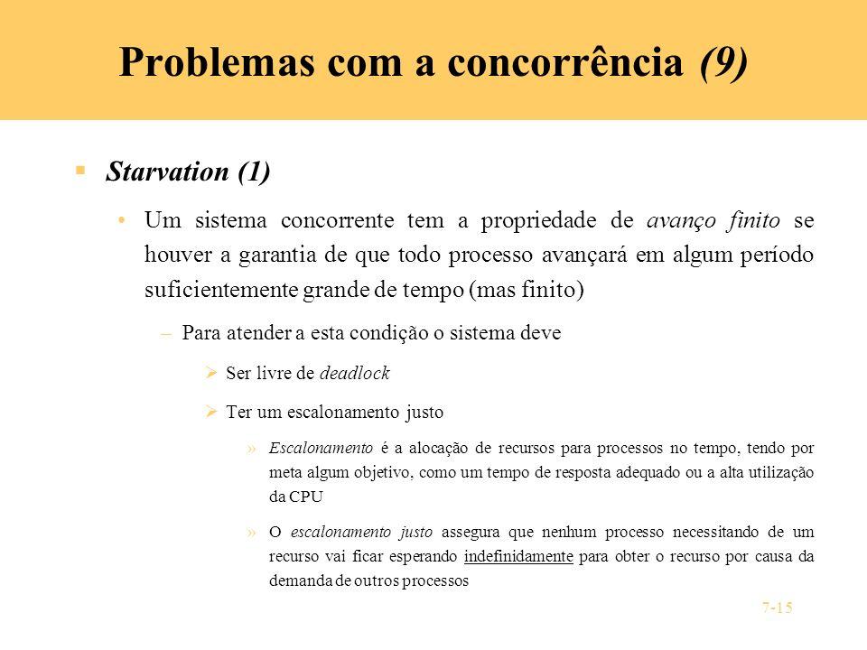 Problemas com a concorrência (9)