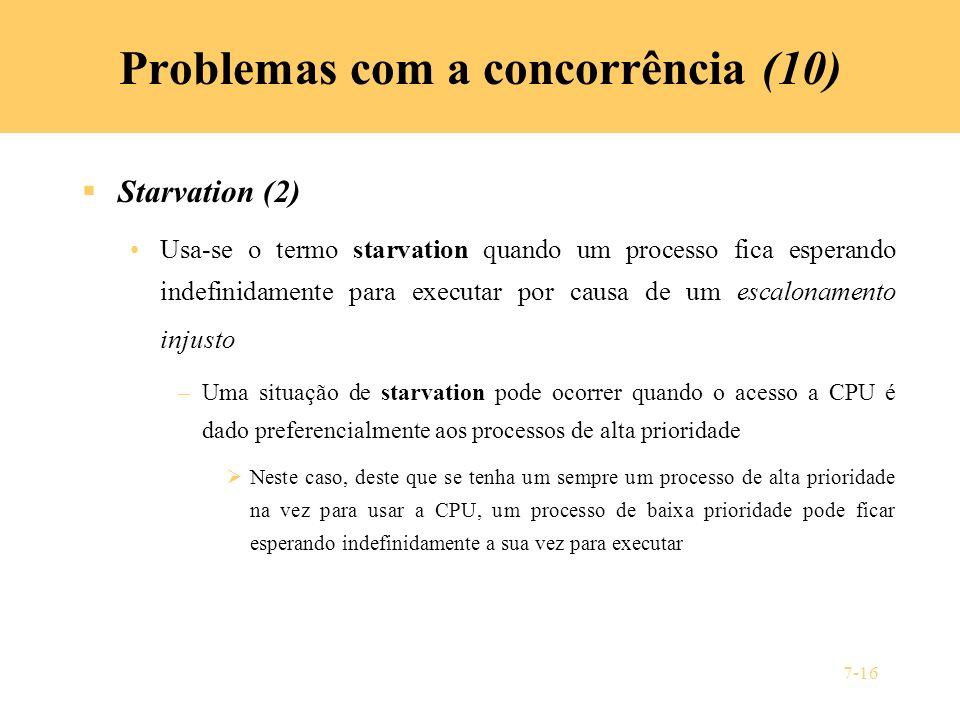 Problemas com a concorrência (10)