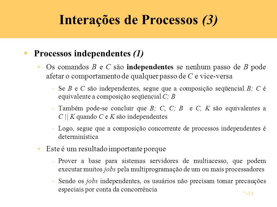 Interações de Processos (3)
