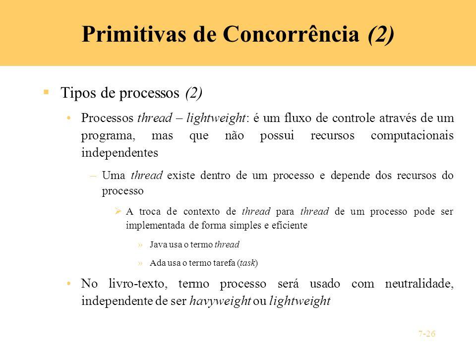 Primitivas de Concorrência (2)