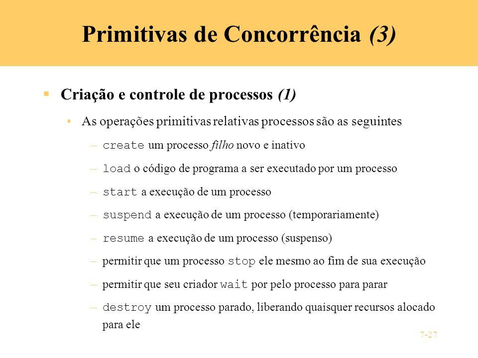 Primitivas de Concorrência (3)