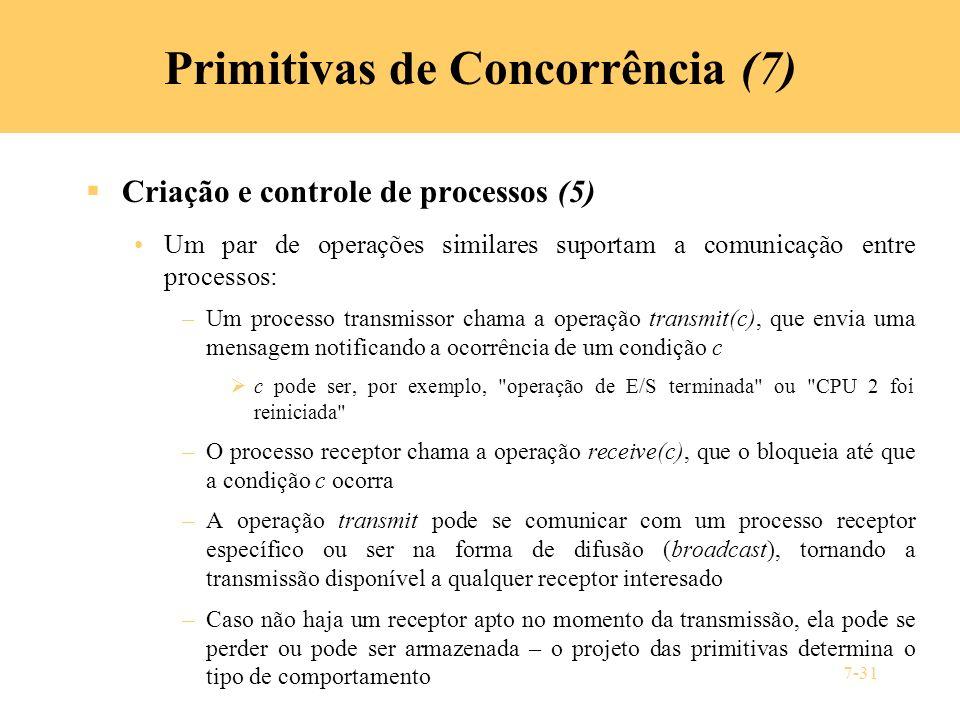 Primitivas de Concorrência (7)