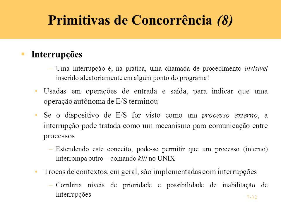 Primitivas de Concorrência (8)