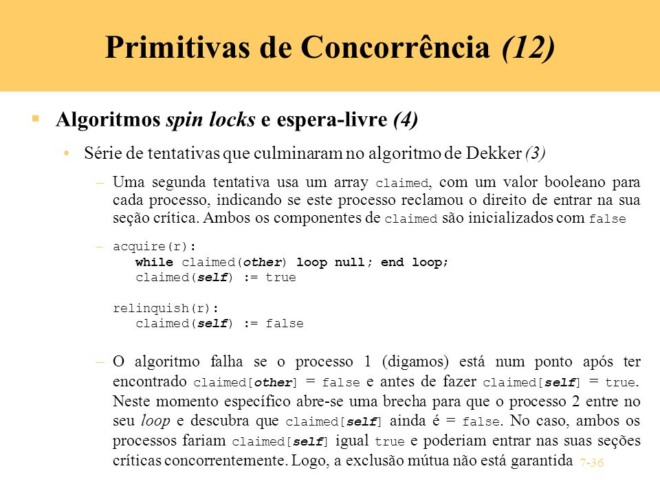 Primitivas de Concorrência (12)