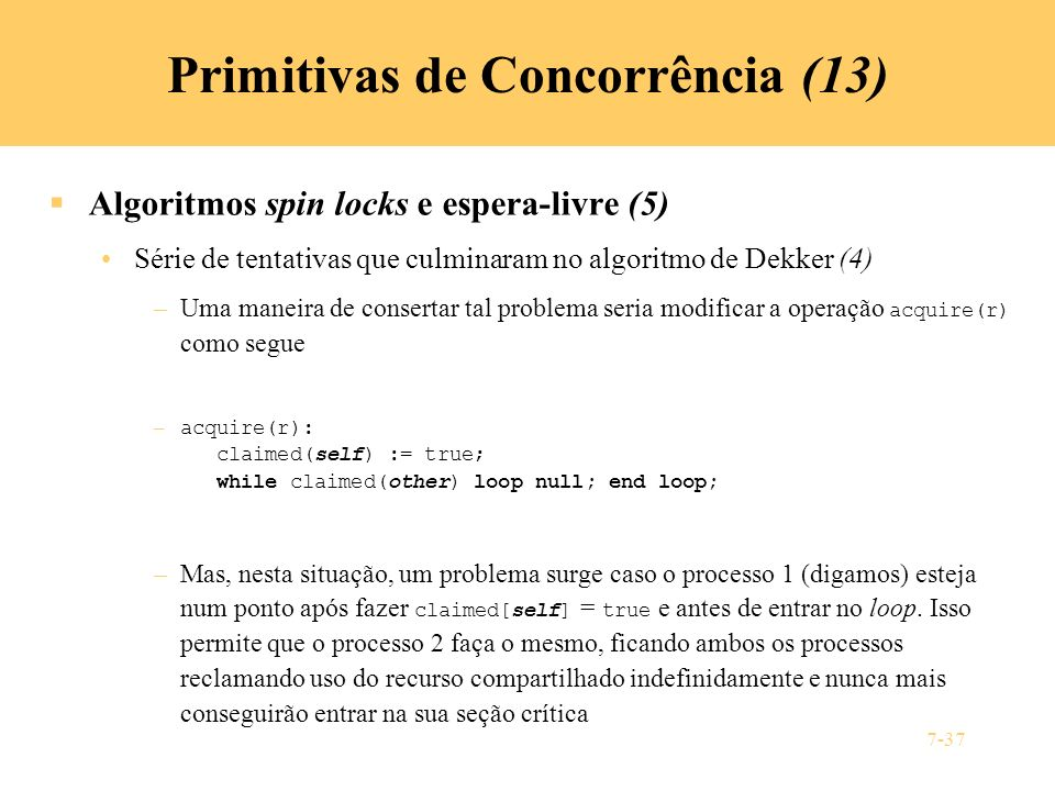 Primitivas de Concorrência (13)
