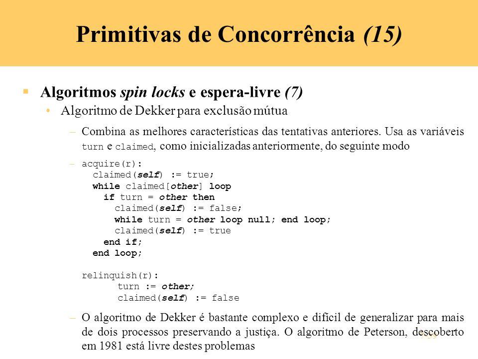 Primitivas de Concorrência (15)