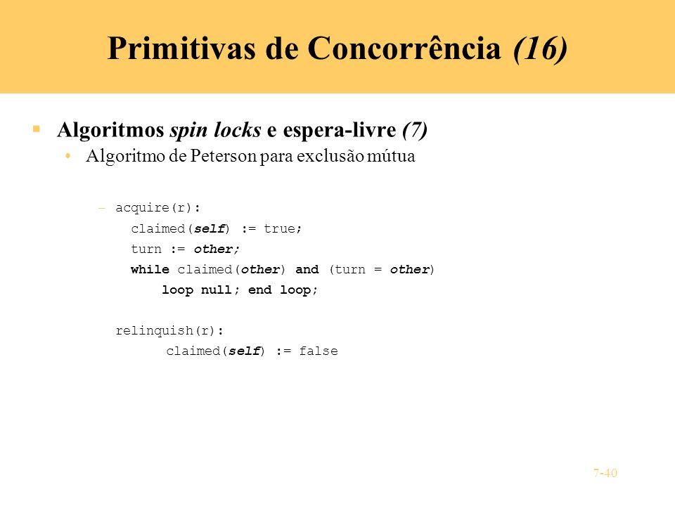 Primitivas de Concorrência (16)