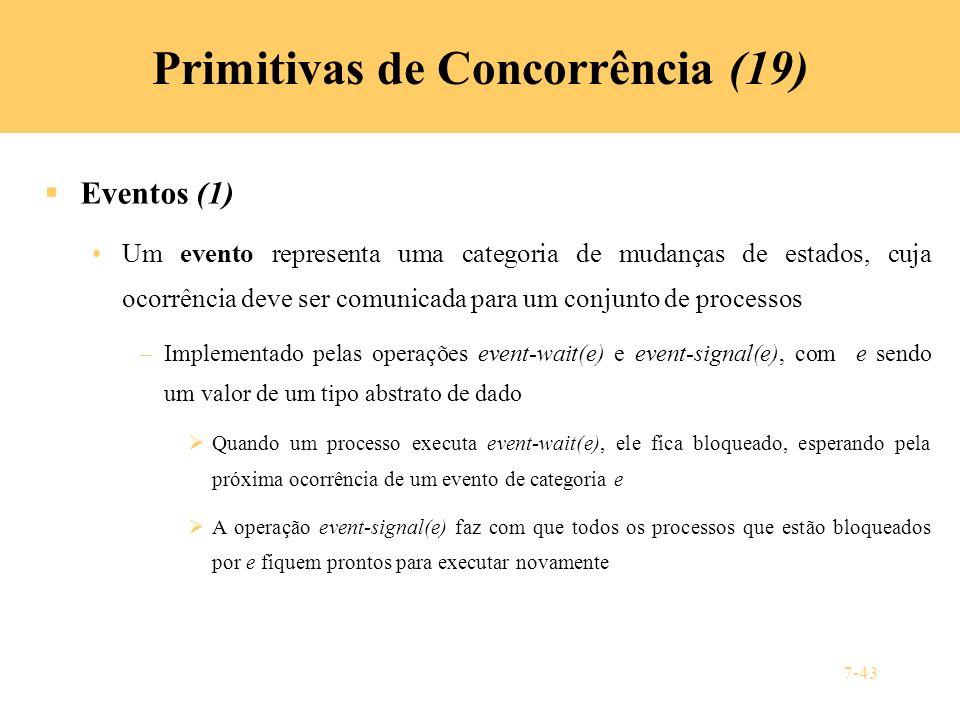 Primitivas de Concorrência (19)