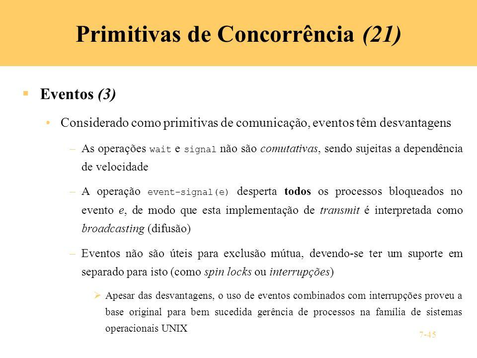 Primitivas de Concorrência (21)