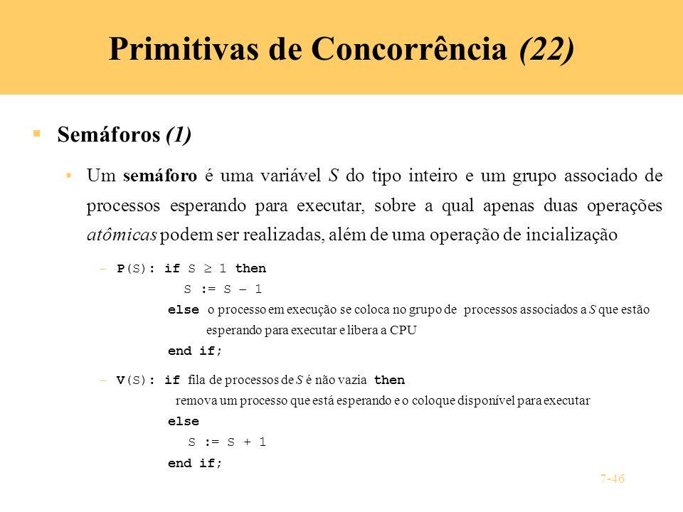 Primitivas de Concorrência (22)