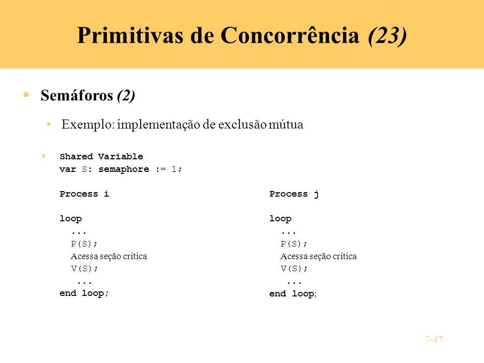 Primitivas de Concorrência (23)
