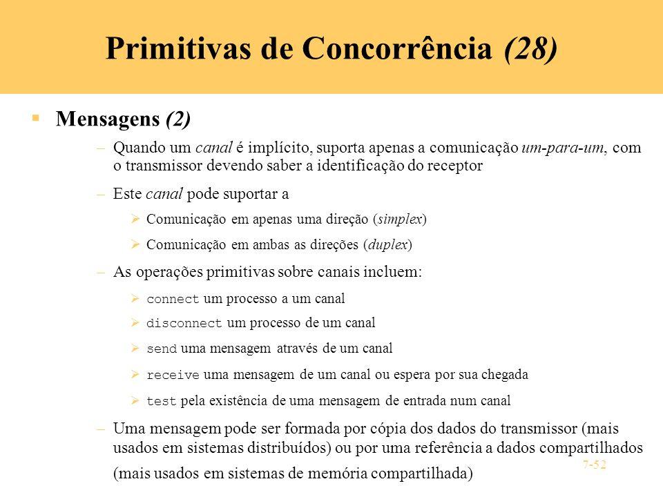 Primitivas de Concorrência (28)