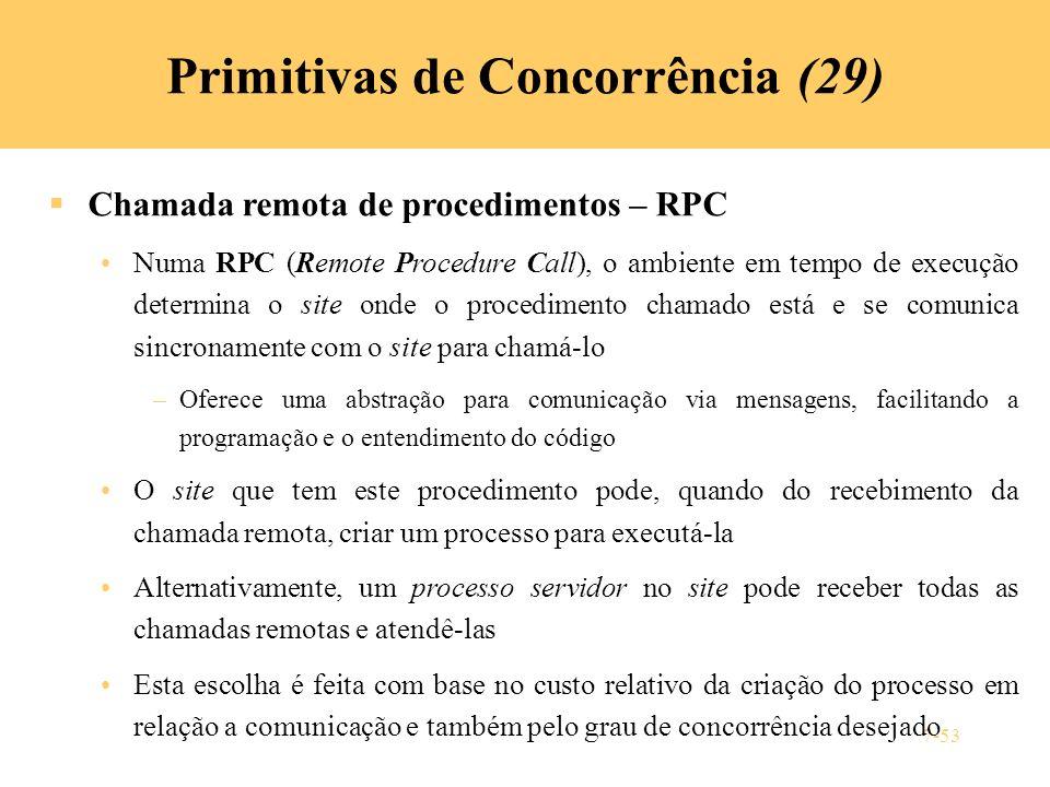 Primitivas de Concorrência (29)