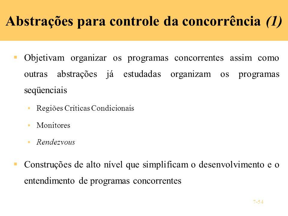Abstrações para controle da concorrência (1)