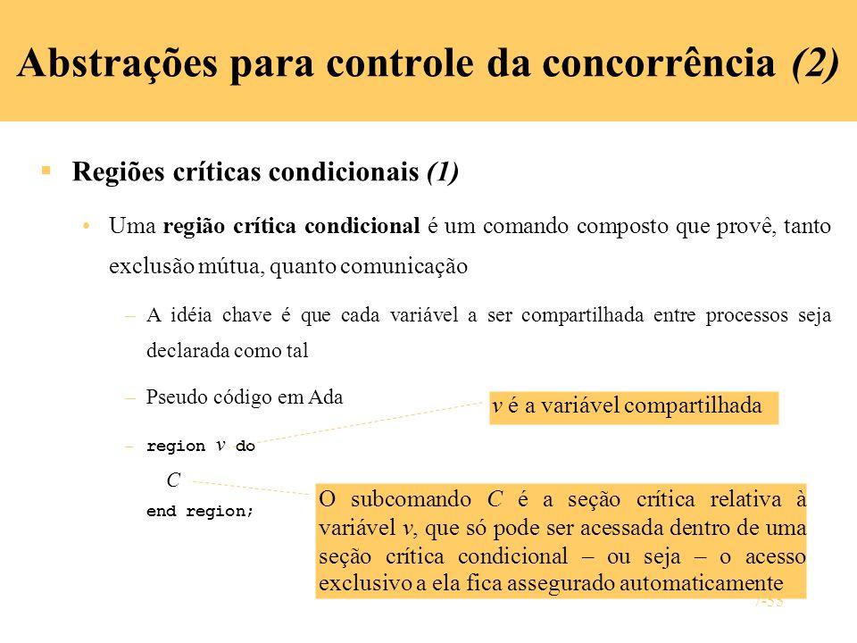 Abstrações para controle da concorrência (2)