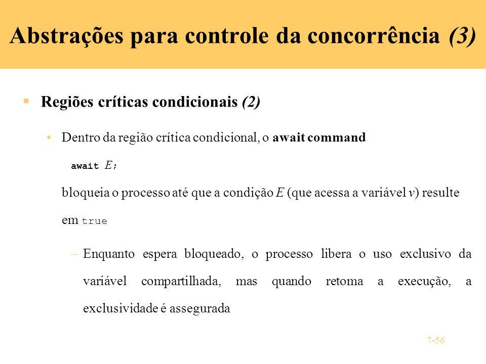 Abstrações para controle da concorrência (3)