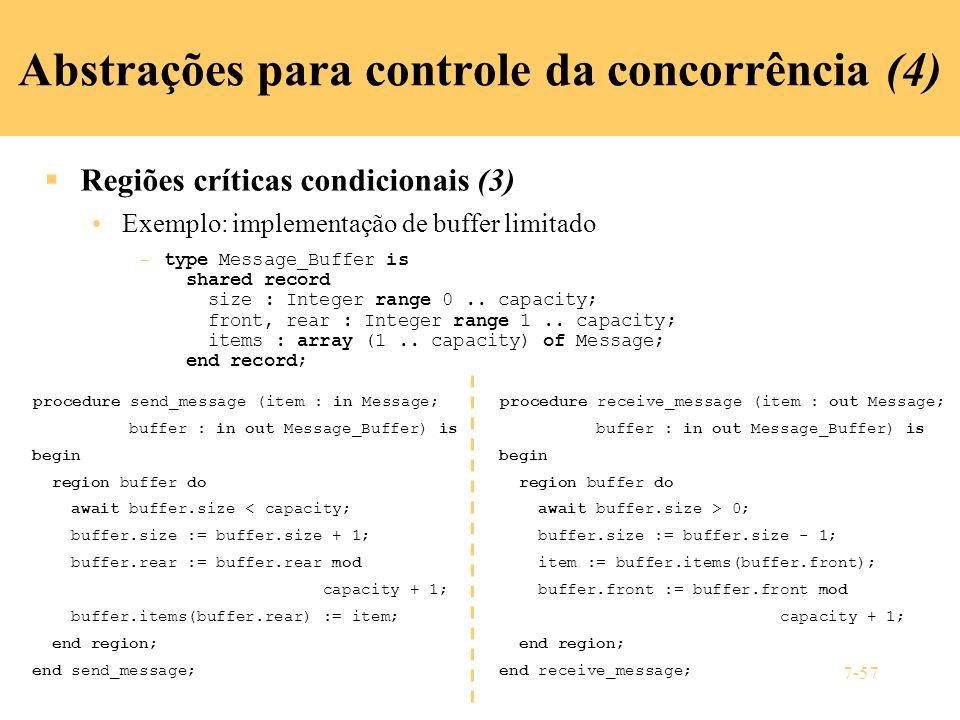 Abstrações para controle da concorrência (4)