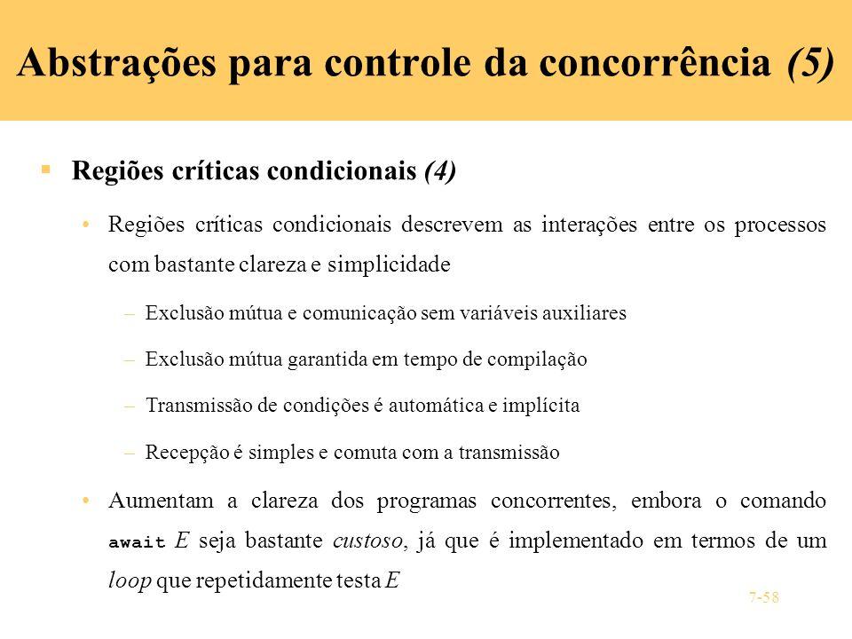Abstrações para controle da concorrência (5)