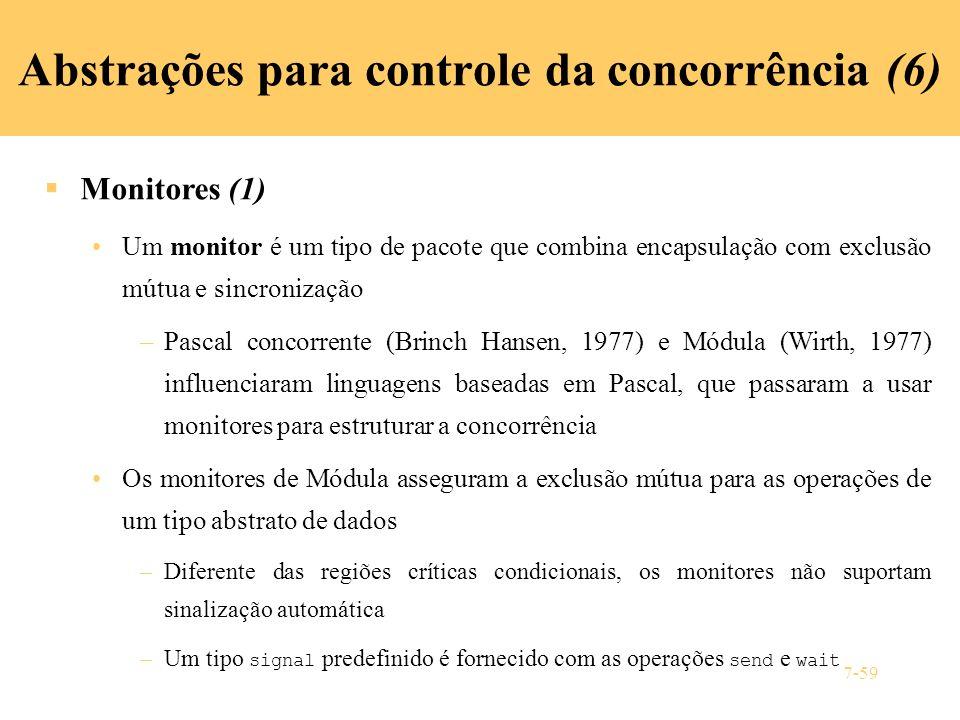 Abstrações para controle da concorrência (6)