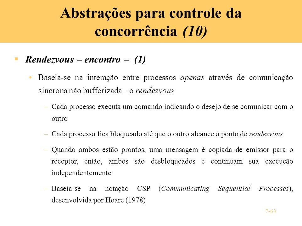 Abstrações para controle da concorrência (10)