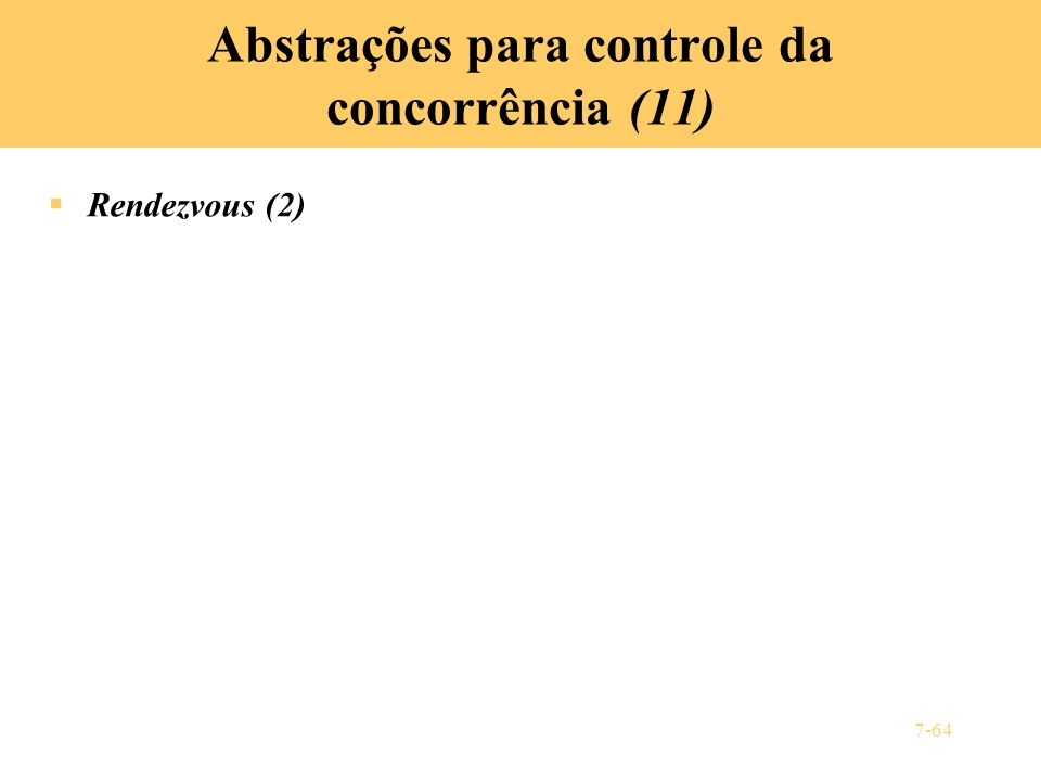 Abstrações para controle da concorrência (11)