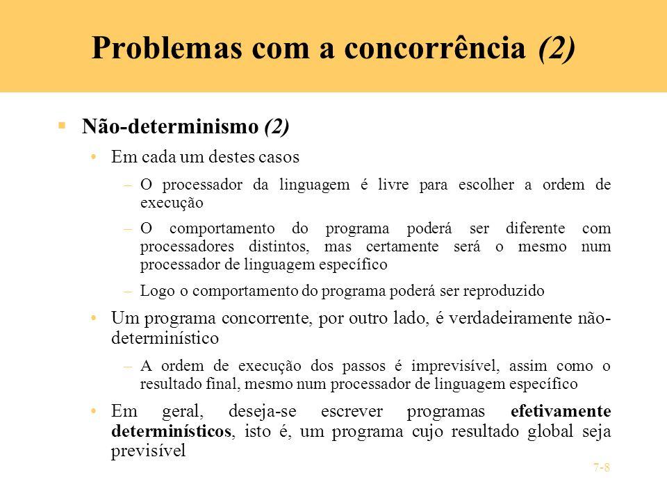 Problemas com a concorrência (2)